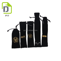 New products black velvet pen gift bag from China Supplier