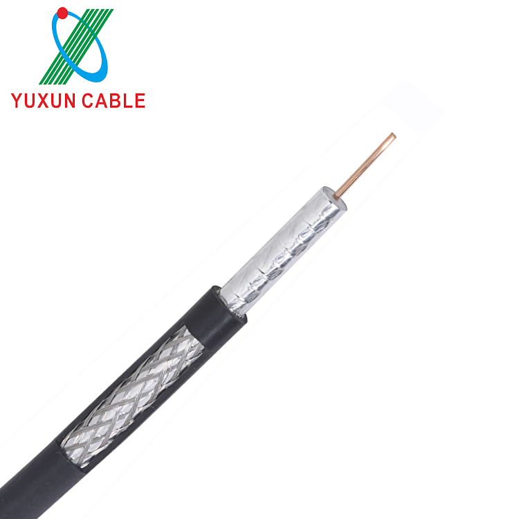 Bare copper conductor PVC PE jacket rg59 rg11 rg58 rg6 coaxial cable for CCTV CATV communication