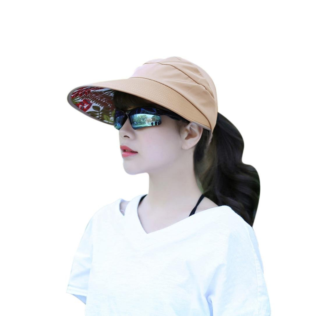 Get Quotations · Creazy Women Summer Sun Hats Sun Visor Hat Sun Hats With  Big Heads Beach Hat ( b5894d8bbb8