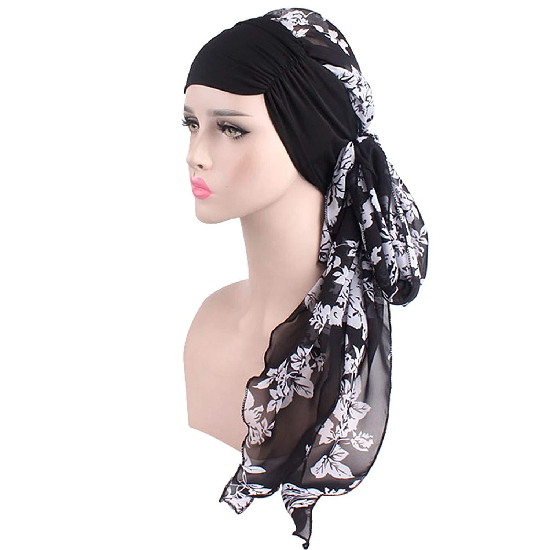 c4b7aaa10e9 Get Quotations · Chemo Headwrap Scarf Cancer Headwraps Caps for Women Long  Hair Headscarf Headband Turbans Hair Loss Cancer
