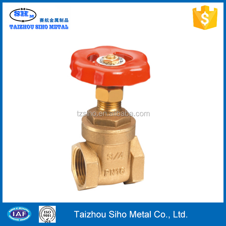 Stem gate valve brass material heavy/light type prolong NPT thread brass gate valve