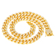 Wholesale stainless steel jewelry cuban link chain 18k gold plated jewelry gold Chain