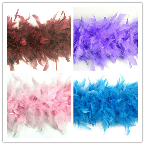 Grosir top kualitas chandelle boa indah warna turki feather boas