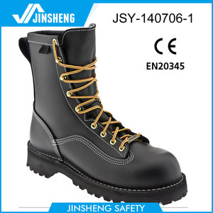 PU/Rubber Premium waterproof leather safety boots WR standard