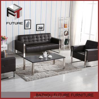 Simple Metal Frame Armrest Sofa Set Designs For Home Use
