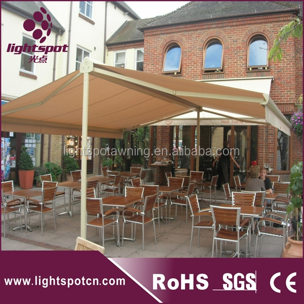 Car parking large automatic aluminum swing awning,commercial garden popular double side swing awning
