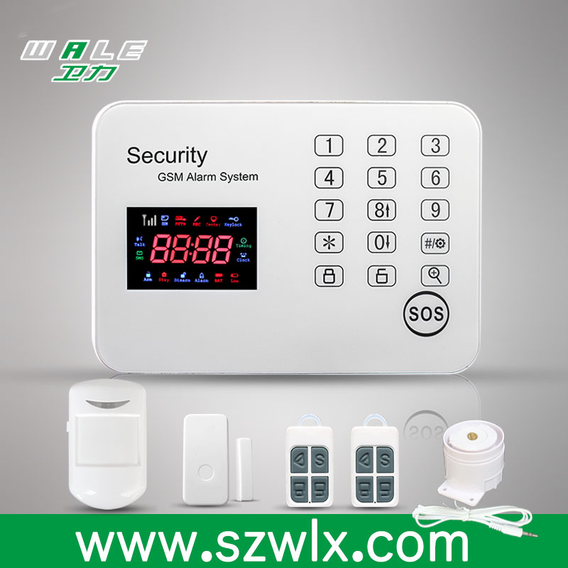 WALE GSM wireless home security <strong>alarm</strong> system, intrude <strong>alarm</strong> report, 433 <strong>alarm</strong>