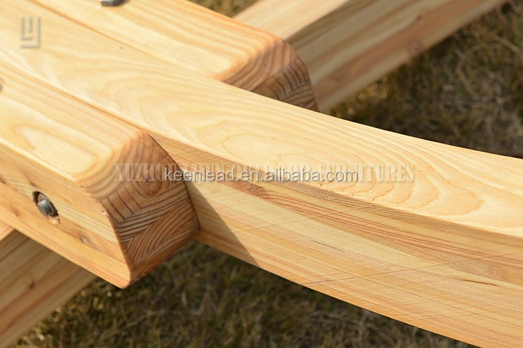 suzhou outdoor patio furniture garden larch wood hammock stand camping hammock stand wooden hammock stand