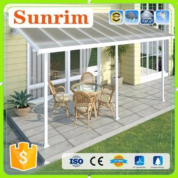 top quality prefabricated customized aluminium metal awning