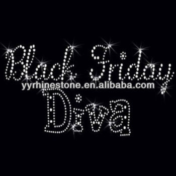 Black Friday Diva Rhinestone Transfers Iron On Applique - Buy ...