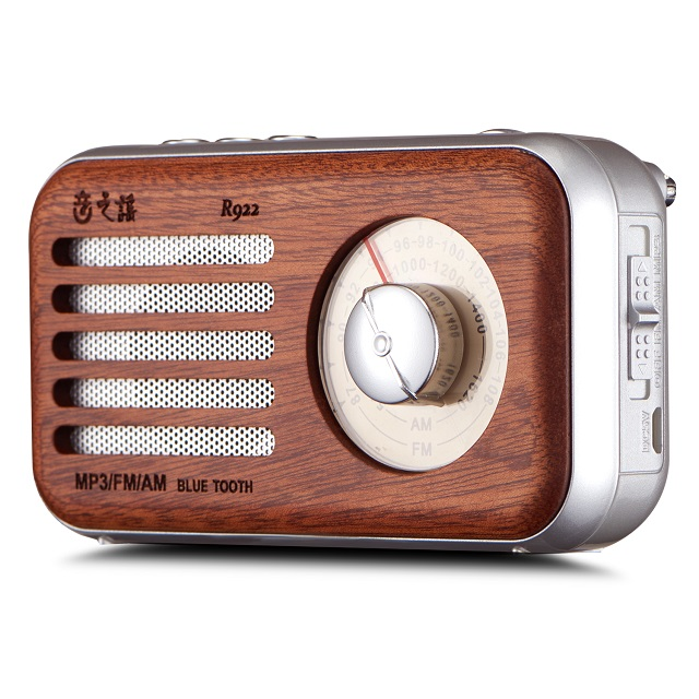Antique Mini Outdoor Portable Wood Bluetooth Speaker with FM/AM Radio and TF card slot
