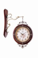 Solid Wood Antique Double Sided Wall Clocks ajanta wall clock models