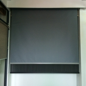 Hot sale motorized day&night fireproof roller blinds