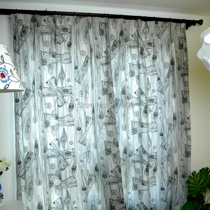 Elegant-European-Style-Wood-Grain-Print-Blackout-Curtains