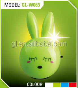 Lopunny long eared rabbit shape 4 SMD mini switch plug in night light 0.6W AC 110V 220V W062
