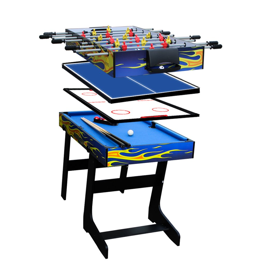 IFOYO 48 in/31.5 in Multi-function 4 in 1 Steady Combo Game Table, Hockey Table, Soccer Foosball Table, Pool Table, Table Tennis Table