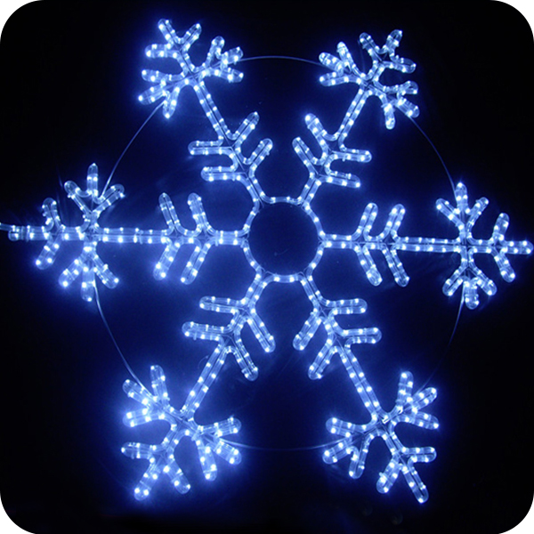 Plastic hanging indoor led transparent snowflake christmas lights