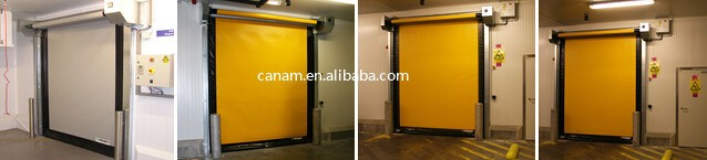 High Speed Rolling Door PVC plastic Fast roll up Door