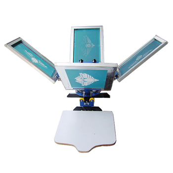 3a2f51a6 4 Color 2 Station Silk Screen Printing Machine 4-2 Press Diy T-shirt ...
