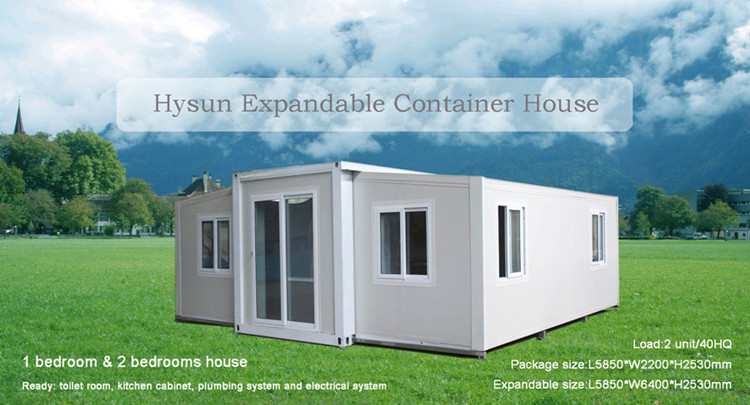 Professional light steel 40ft container home knockdown house kitset low cost expandable cabin with price