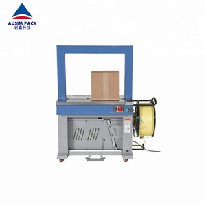 High Quality Grade Food Application Type Aluminum Alloy Arch Box Carton Strapping Bundling Machine Without Motorized Table