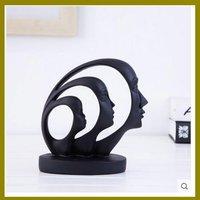 2017 black table resin figurine head house decoration item for wholesale