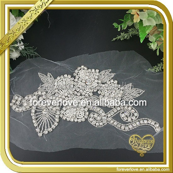 Neck Designs Flower Applique Patterns Wholesale from Guangzhou FHA-057