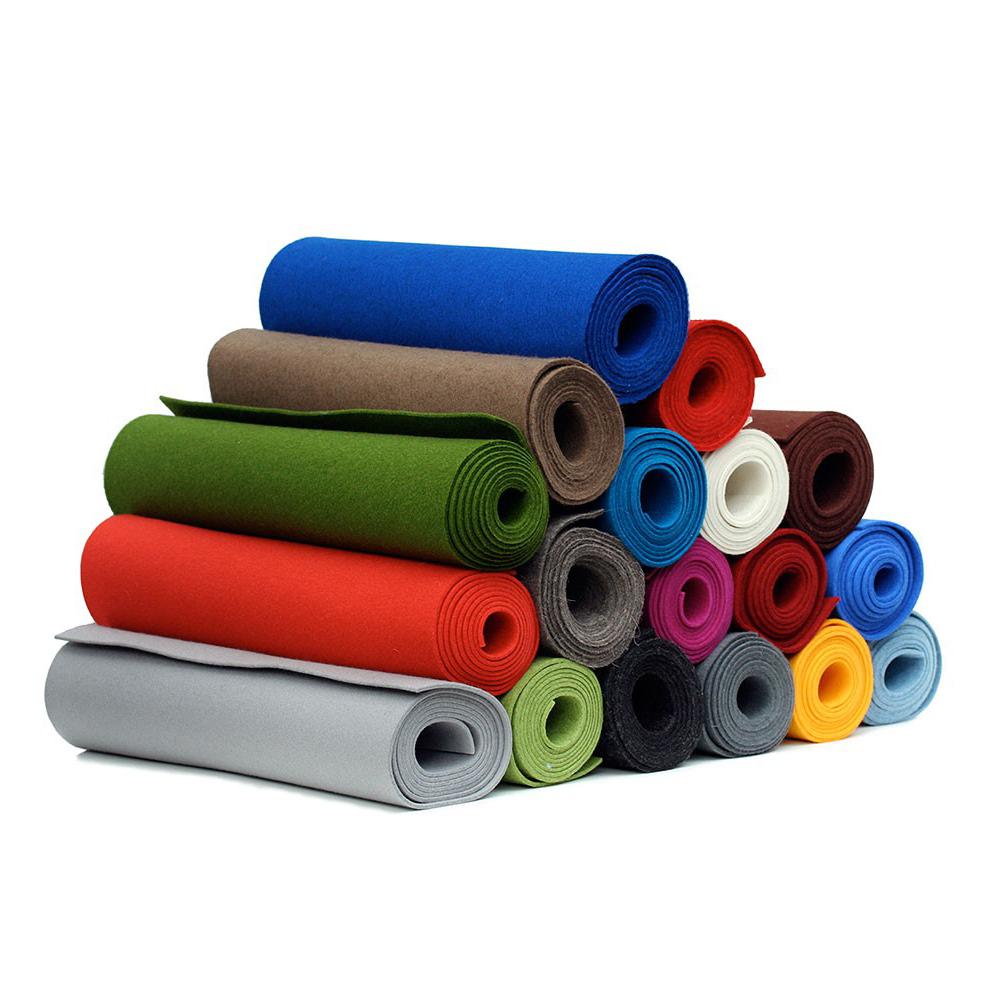 Menor preço de alta qualidade feltro tecido rolo peças feltro industrial poliéster não tecido colorido feltro