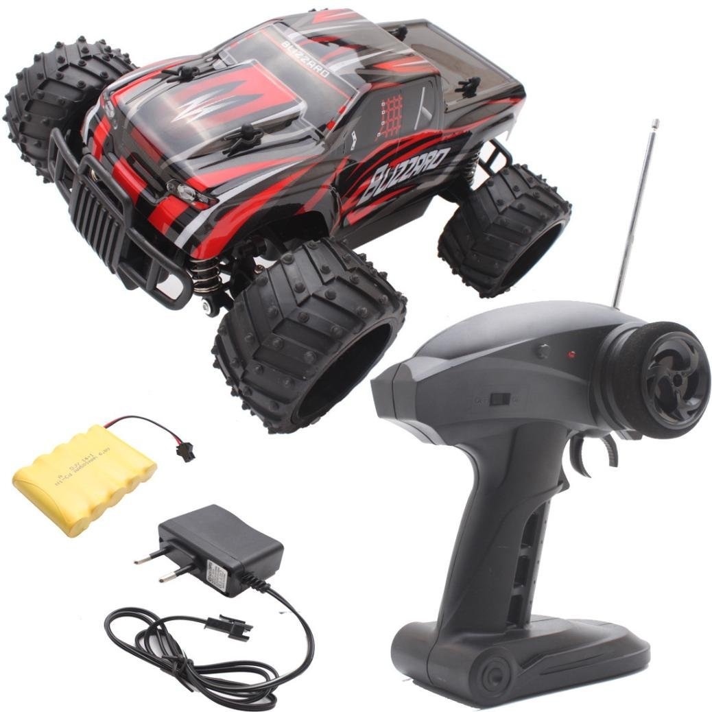 Hot sale! RC Toy, Remote Control Car,Sunfei 1:16 Electric RC Car Off Road High Speed Remote Control Car Model (Red)