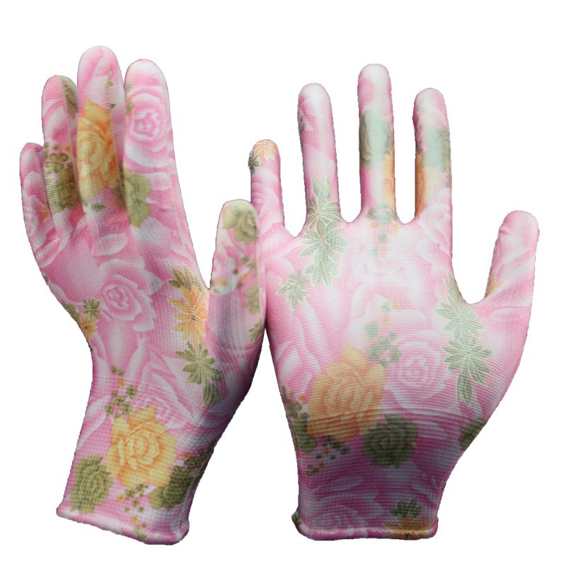 NMSAFETY 2015 new product glove importer of working gloves in China flower print women working gloves