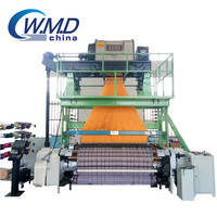 High speed rapier loom weaving label with electronic jacquard