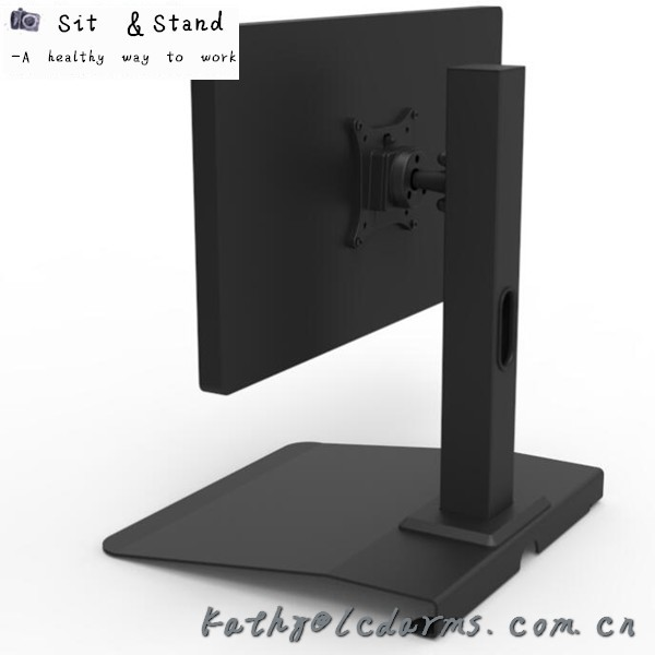 Think Wise BL101 LCD Mount Manufacturer floor standing quick release Bank System PC monitor VESA stand