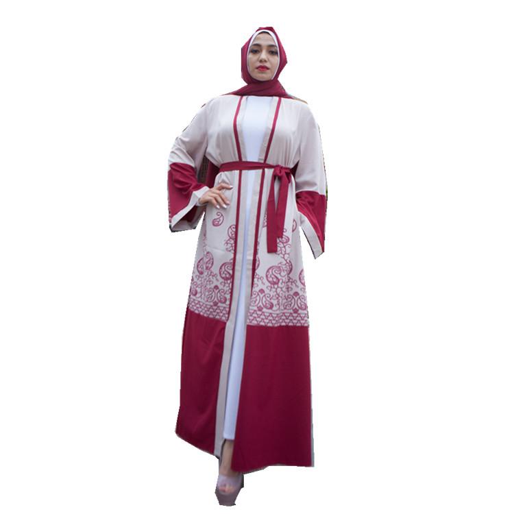 Hot sell red muslim kimono islamic clothing abaya in dubai фото