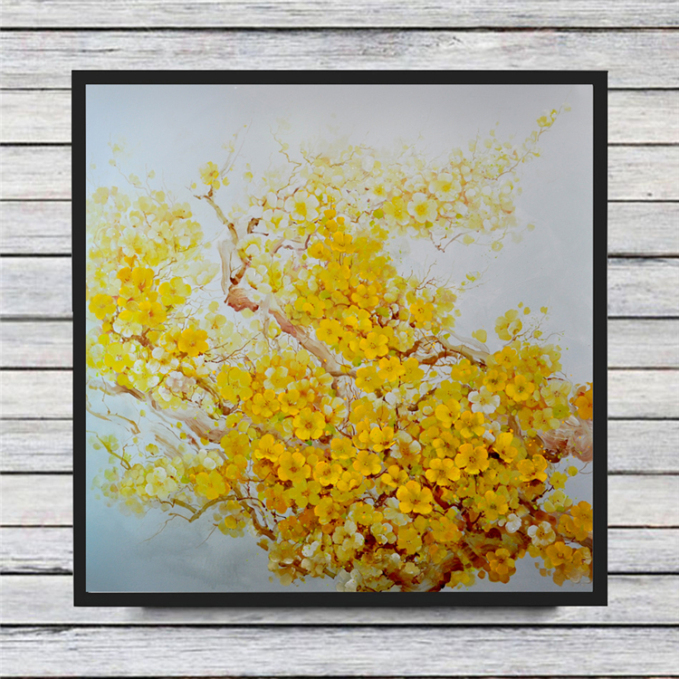 Yellow blossom tree Modern Oil Painting