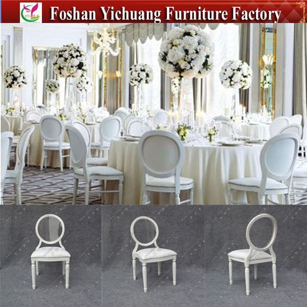 YC D156 2 Fancy Clear Round Back Leather Modern Classic Wedding Chairs