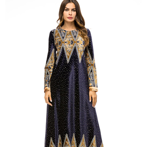 2018 dubai women dresses islamic abaya new wholesale muslim women long kaftan dress