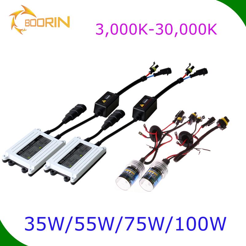 35W HID Conversion Kit H1 H3 H7 H11 9006 5000K 6000k Xenon Light /& Slim Ballasts