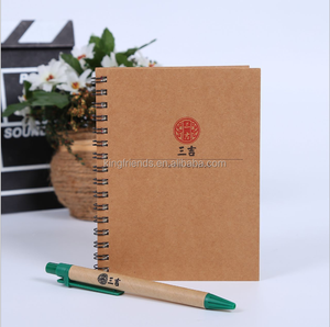 Hot Sale Environment-friendly coil this kraft notebook customize logo