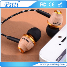 Hot Sell Awei ES-Q5 Super Bass Earphone For IPhone/IPod/Android Headset For MP3/MP4 Wood Wiring Earphones