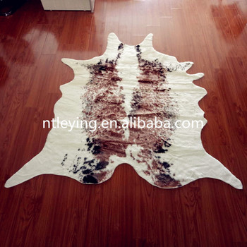 faux fur animal skin rugs big cow hide rug cow hair on hidecow print