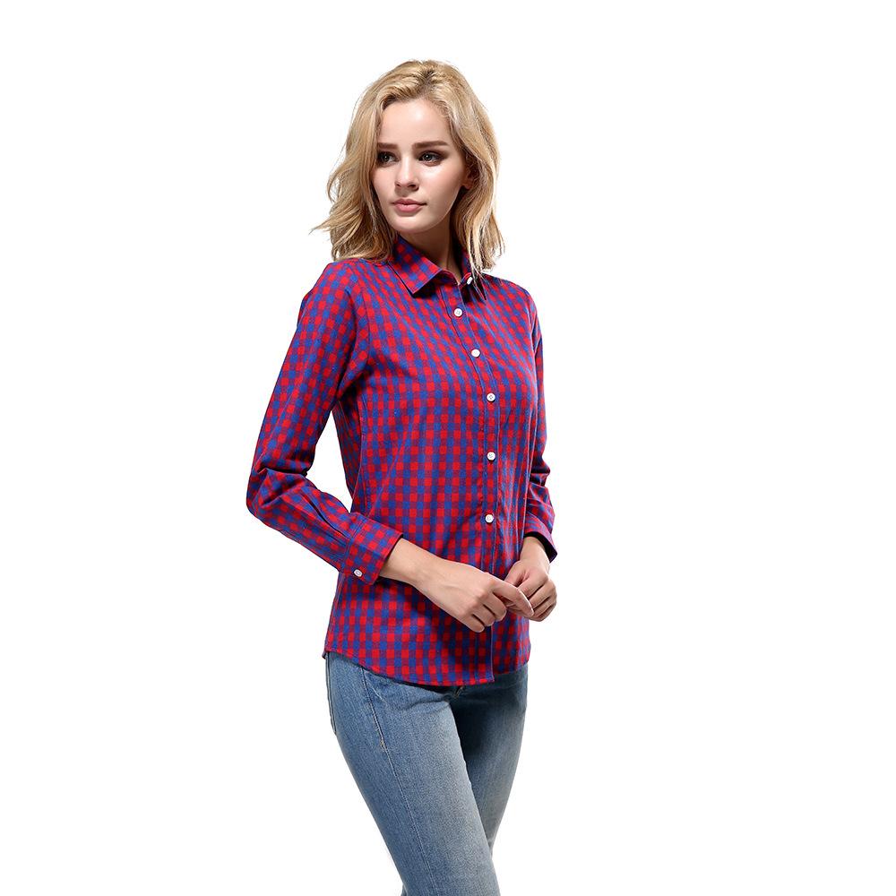 Venta al por mayor camisas a cuadros dama-Compre online los mejores ...