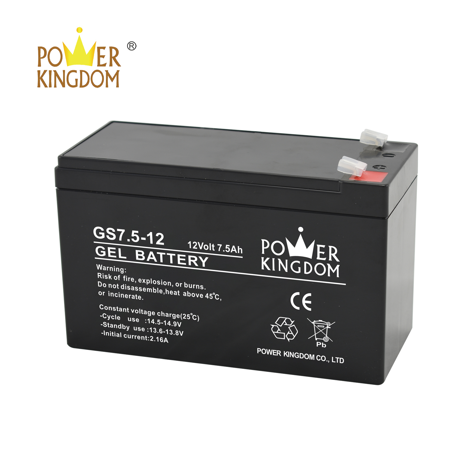 Power Kingdom 12v lead acid battery with good price solor system-2