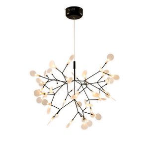 Black Fancy Hanging Ceiling Lights Modern acrylic Shape PC Chandelier LED Pendant Lamp