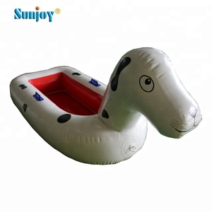 Funny water games aqua pool toys spotty dog water scooter animal pool inflatables floating boat inflatable pool float for kids