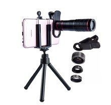 Fabriek productie 4in1 kits 20x zoom mobiele telefoon camera telelens