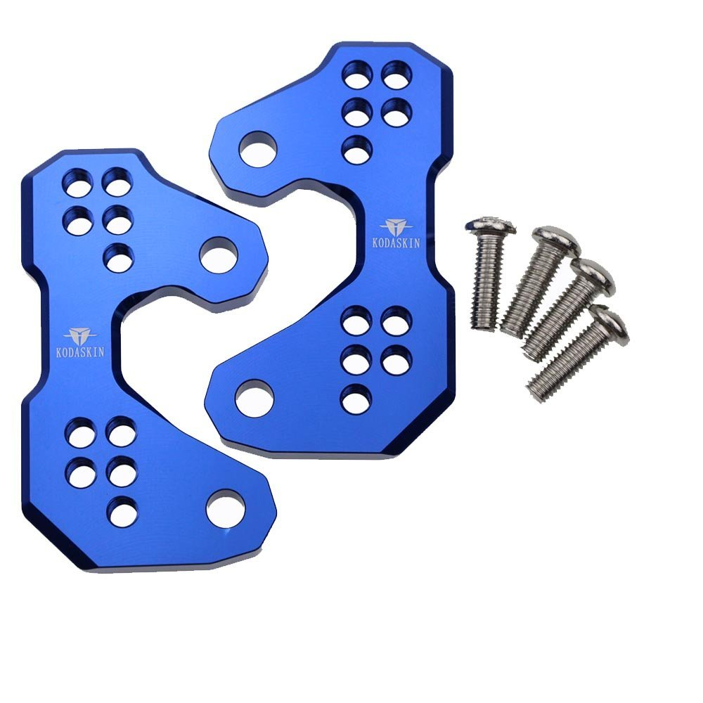 PRO-KODASKIN Motorcycle CNC Aluminum Rearset Rear Set Replacement Base Mounting Plate for Yamaha YZF R3 R25 MT-03 2013 2014 2015 2016 (Blue)