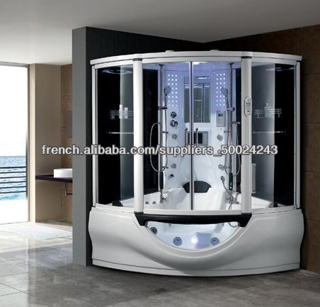 acrylique noir vapeur sauna douche salle de bains avec ...