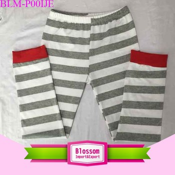 OEM service new style wholesale kids cotton pants binding children high waist boy girls striped pants