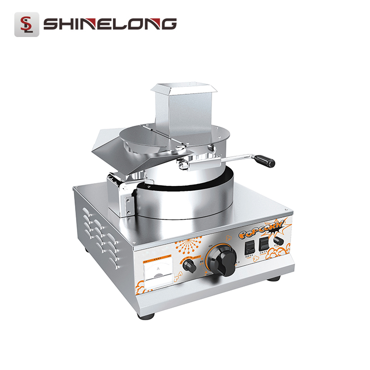 China K525 1- Head Industrial Stainless Steel Gas Popcorn Machine