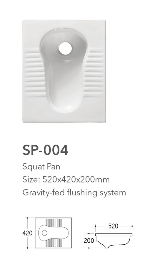 eastern style wc washdown sanitary porcelain squatting toilet without fender
